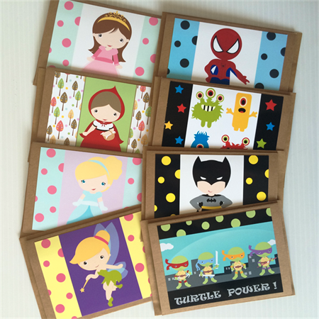 Children's Character Birthday Blank Cards Pack Greeting Cards for all Occasions | Little Ladybird | madeit.com.au