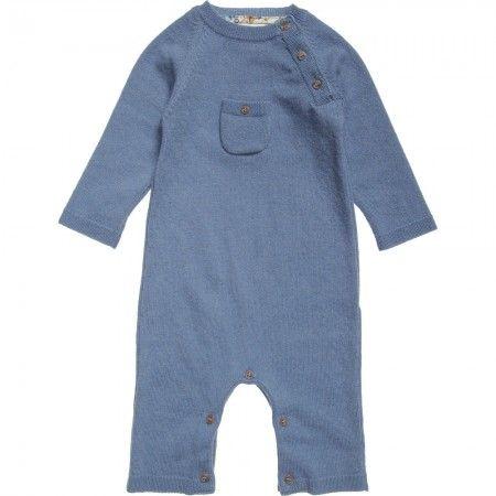 Liberty London Cashmere - Boys blue cashmere romper
