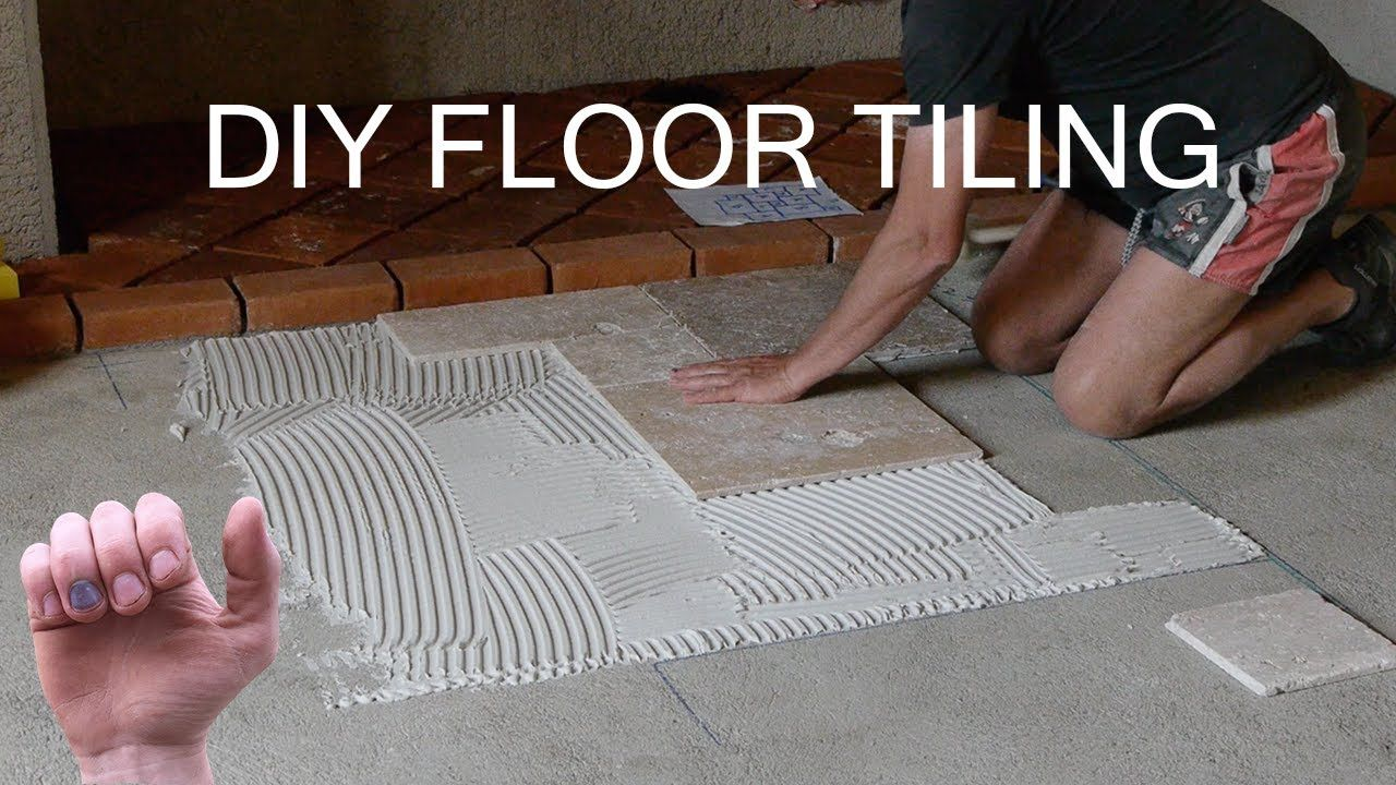 How to Build a Floor - Laying Tiles - YouTube in 2020 ...