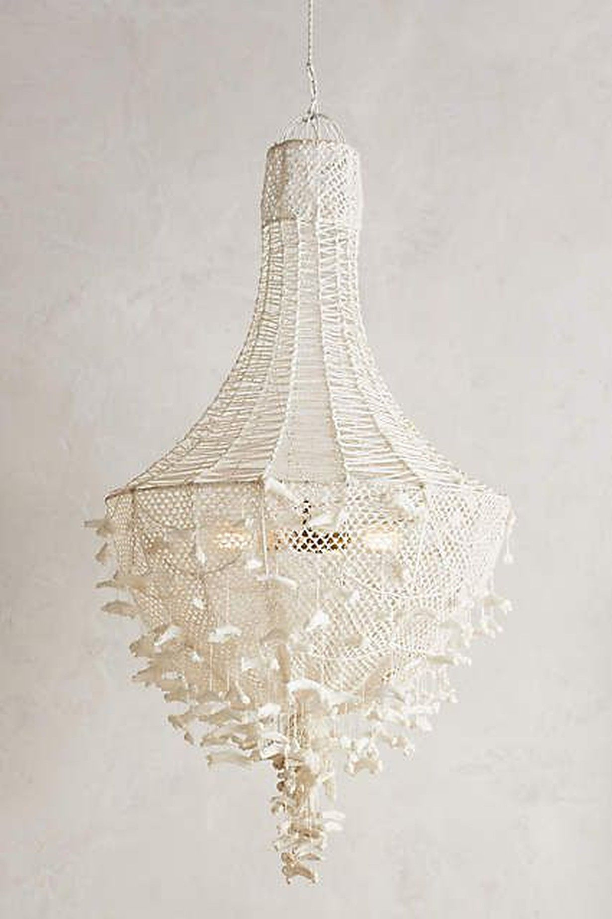 Hand knit chandelier anthropologie im home pinterest hand knit chandelier anthropologie arubaitofo Image collections