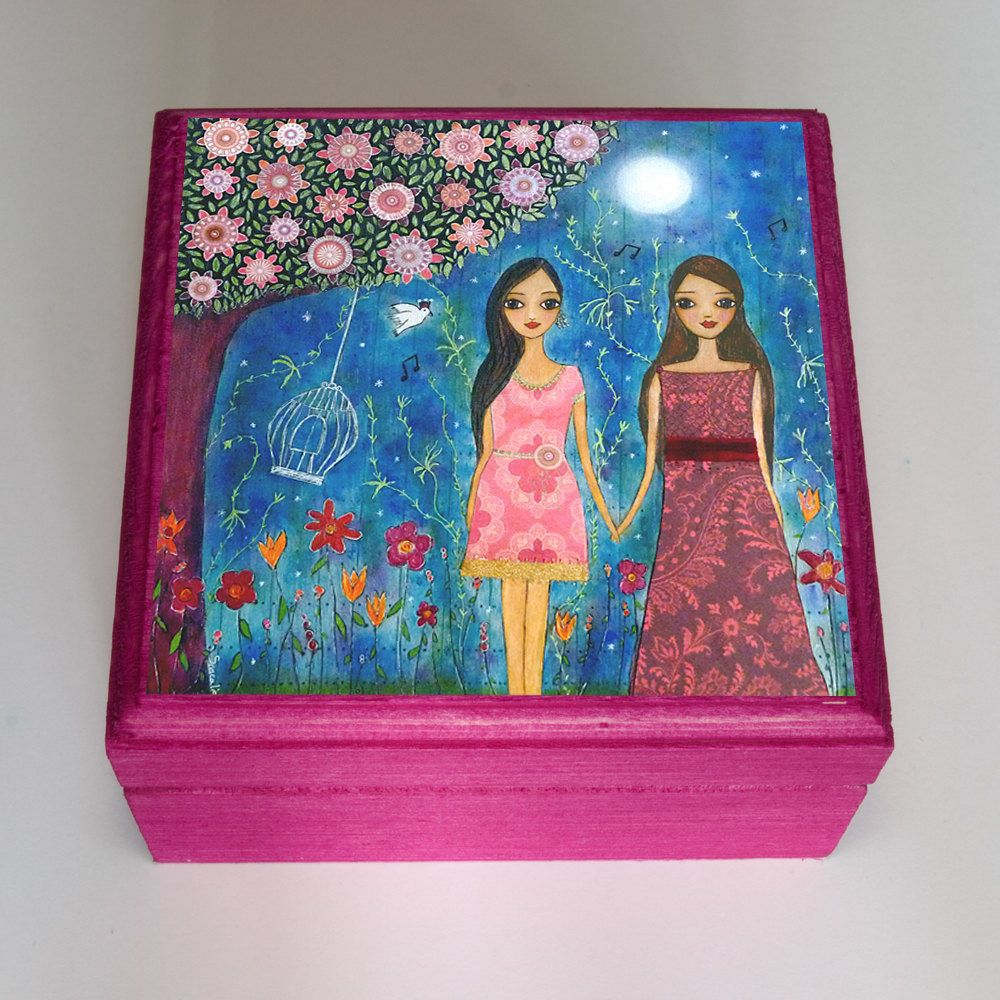 Girlfriend Gift Best Friends Gift Girl Jewelry Box Handmade