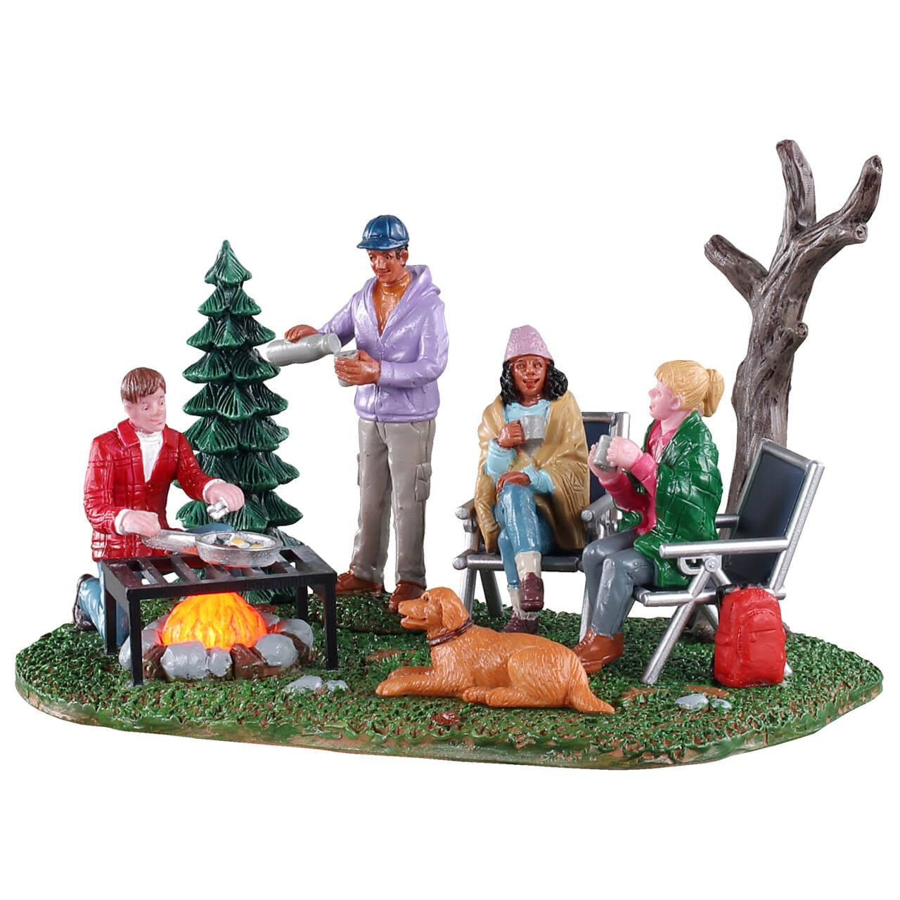 Enchanted Christmas Village 2020 Lemax Camping Couples in 2020 | Christmas village accessories