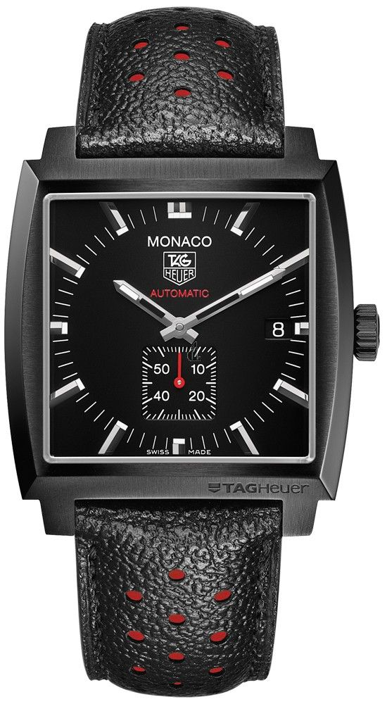 réplica TAG Heuer Monaco Calibre 6 Automático reloj completo Negro 37 mm
