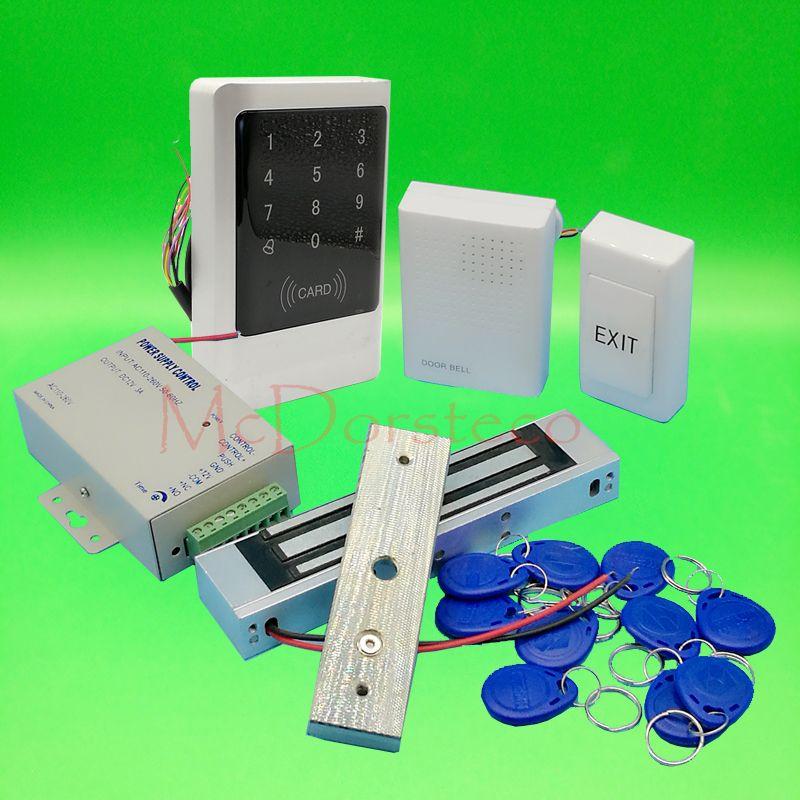 Ip68 Waterproof Full 125khz Rfid Door Lock Control System Kit 350lbs Electric Magnetic Lock Metal Touch Key Access Control Access Control System Control System