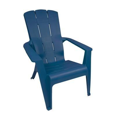 Gracious Living - Chaise Adirondack a Contour - bleu - 11512-20 - Home Depot  sc 1 st  Pinterest : chaise adirondack - Sectionals, Sofas & Couches