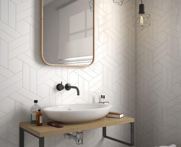 Equipe ceramicas chevron wall ba os en 2019 azulejos for Ceramica para banos modernos