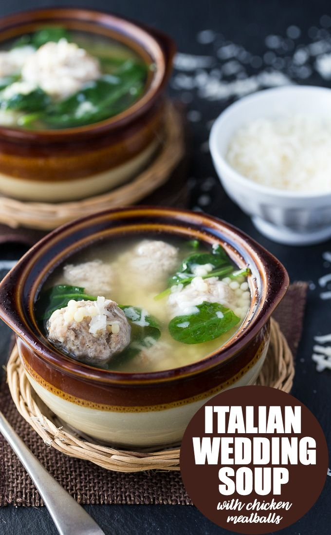 Italian Wedding Soup with Chicken Meatballs Recipe