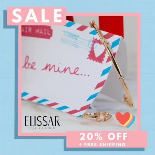 💌Valentine's Day Sale!💌 20% off + FREE SHIPPING!  Use code: LOVE20 💗 💗 💗 #bemine #valentinesgift #usecode #jewelrysale #diamondbangle #rosegoldjewelry #rosegoldeverything #loveletter #willyoubemyvalentine #diamondrings #ringstack #braceletstack #stackablerings #canva #stackablebracelets #vday2020 #valentinesday2020 #jewelrytrends #diamondjewelry #willyoubemine #bestbfever #bestgfever #soinlovewithyou #galentinesday #secretadmirer #jewelrystyle #everydayjewelry #weheartyou #elissarcouture