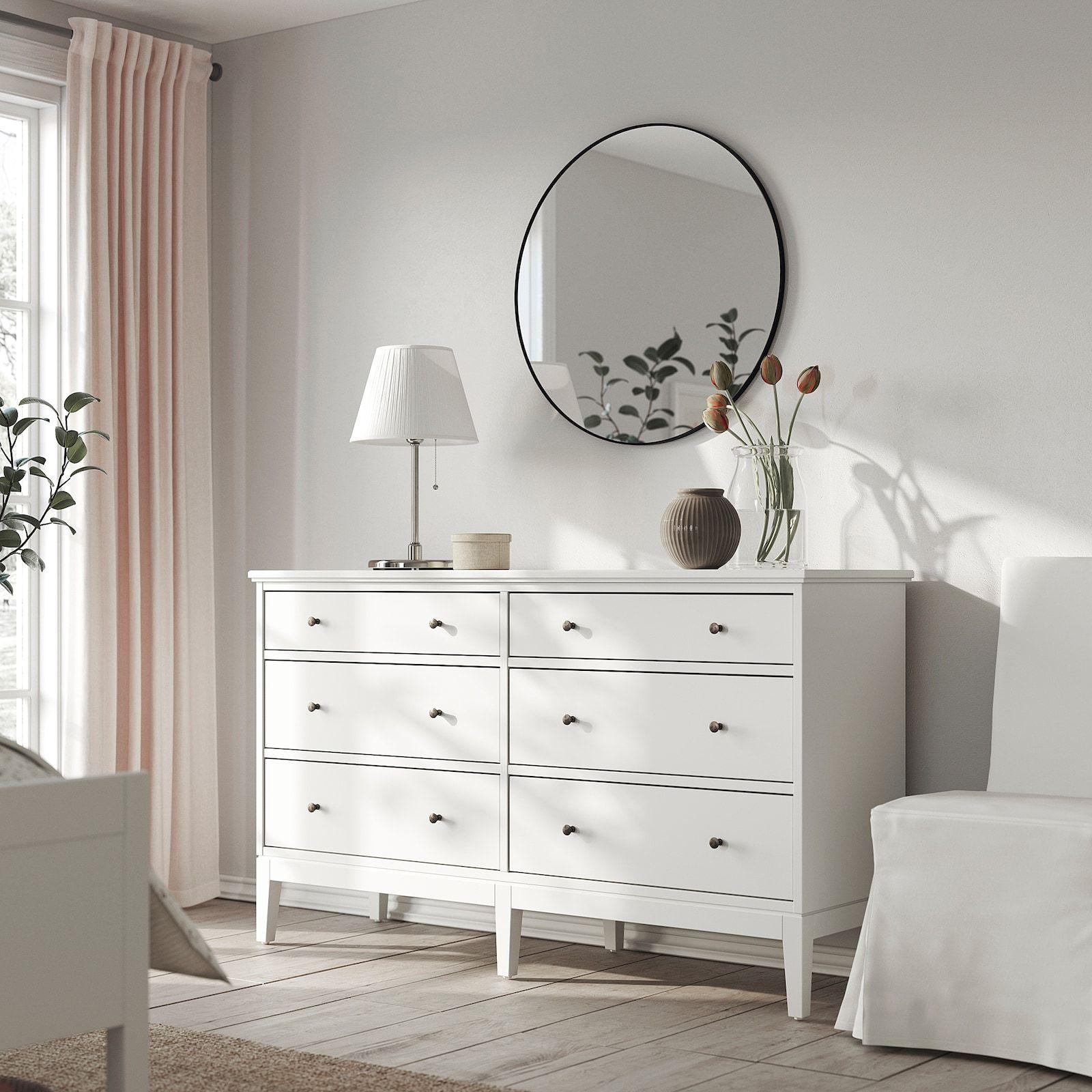 Idanas 6 Drawer Dresser White 633 4x373 8 Ikea In 2021 Dresser Drawers 6 Drawer Dresser Wide Chest Of Drawers [ 1600 x 1600 Pixel ]