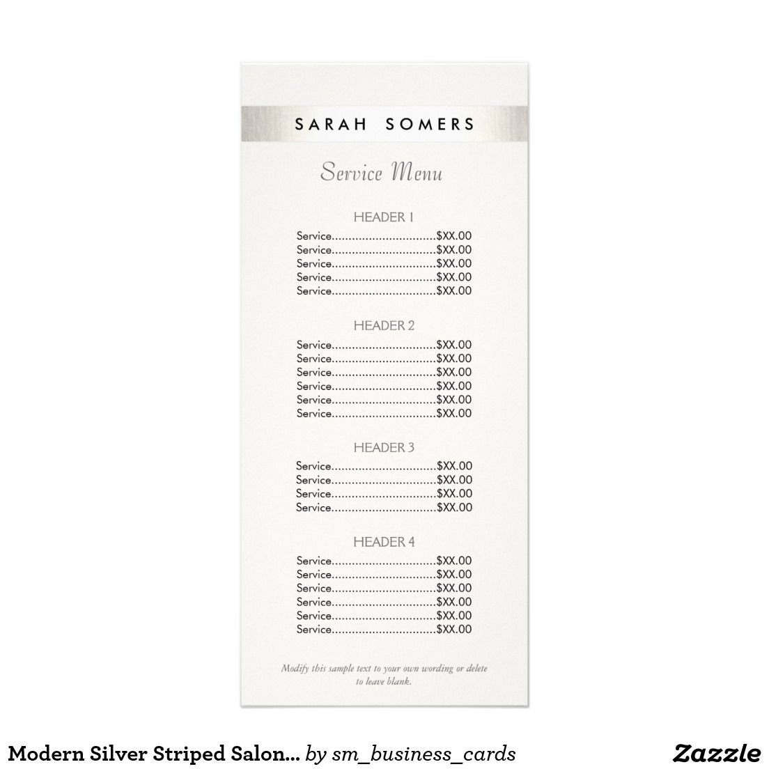 Salon Price List Template  Templates    Price List