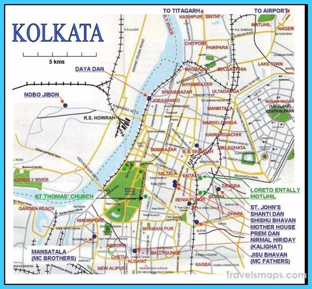 Calcutta India Map on