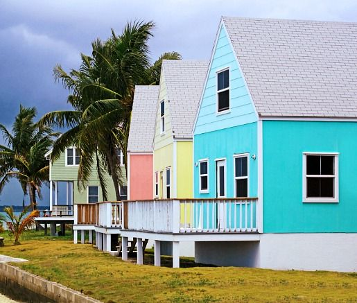 Bahamas Beach House: Coastal Living In Colors! The Pastel Cottages In Hope Town