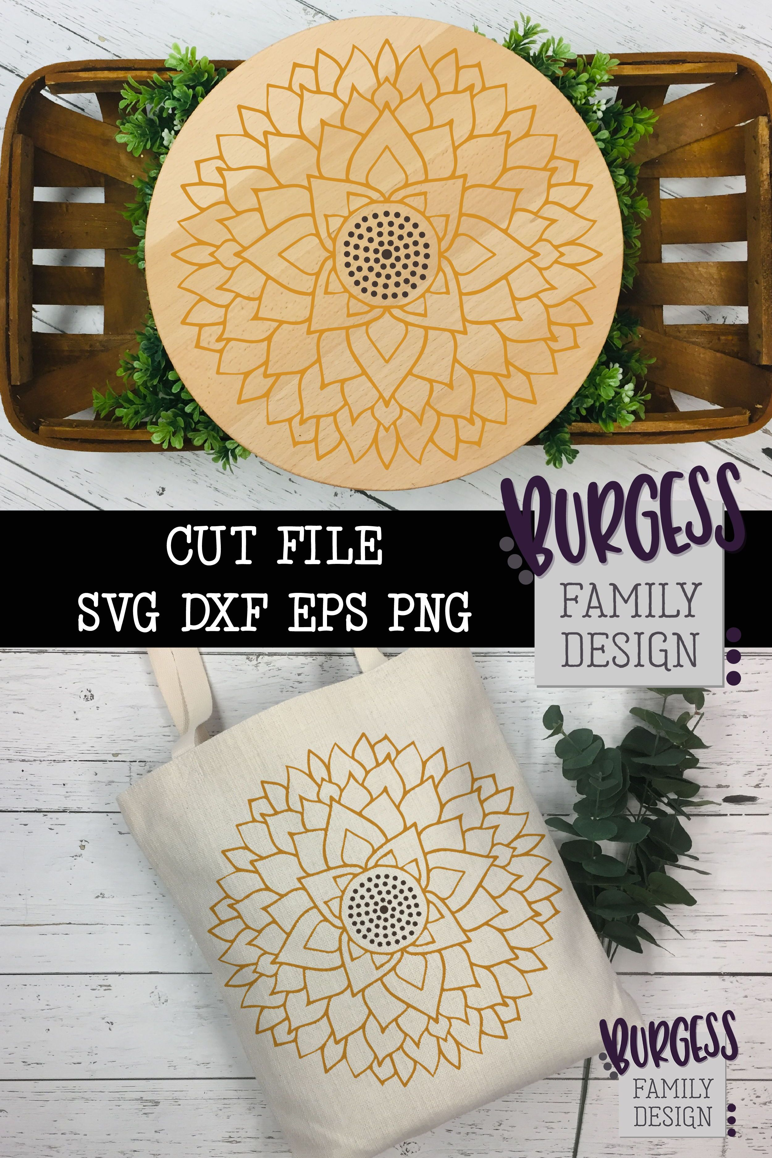 Weeding is so relaxing - grab this design and settle in to an afternoon of crafting. Affiliate link   #cutfile #sunflower #mandalaSVG #mandala #flowermandala