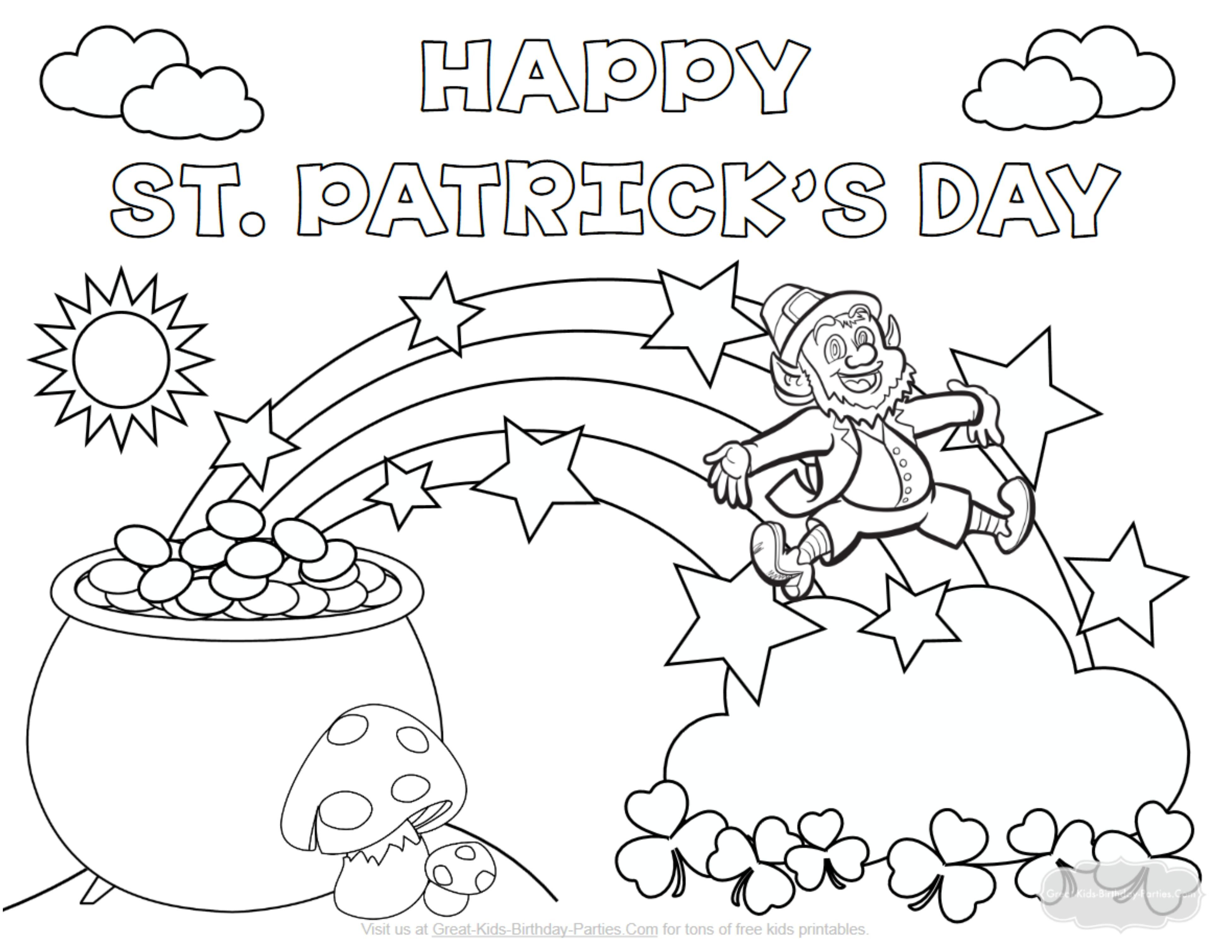 Here Is The St Patrick S Day Coloring Page Click The