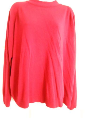 womans sweater zipper back red sz 3x office casual