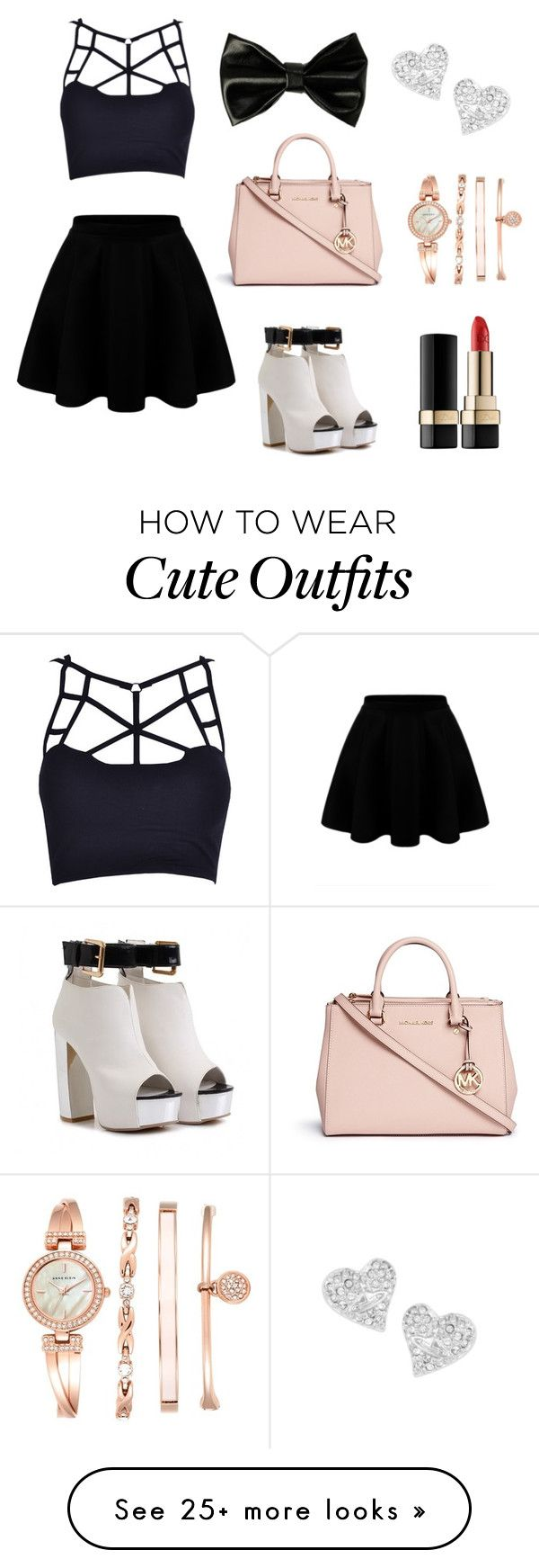 df9f7569816f Party Outfit by berryblossom-333 on Polyvore featuring Michael Kors, Anne  Klein, Vivienne Westwood and DolceGabbana