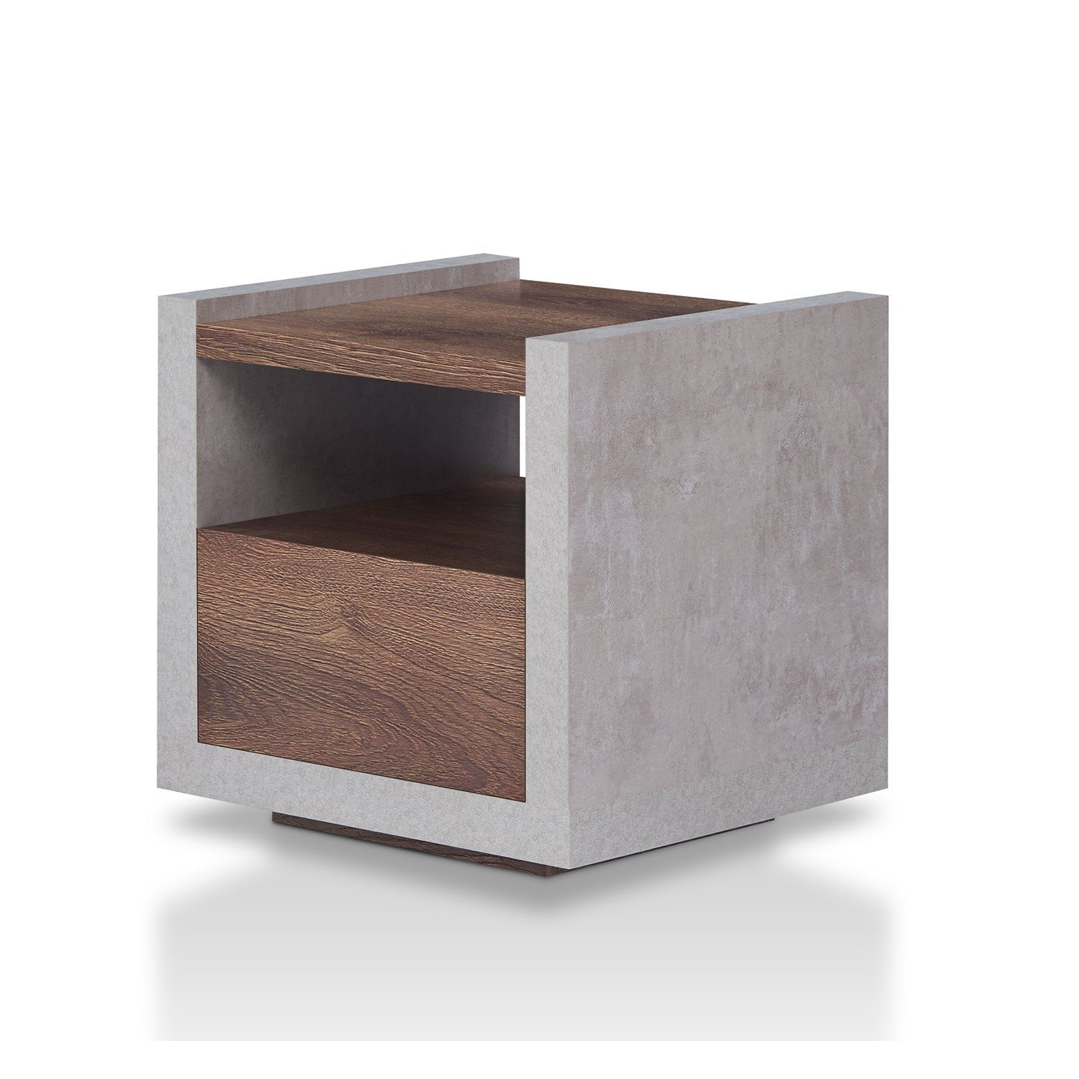 17 Stories Evony Contemporary End Table In 2020 Contemporary End