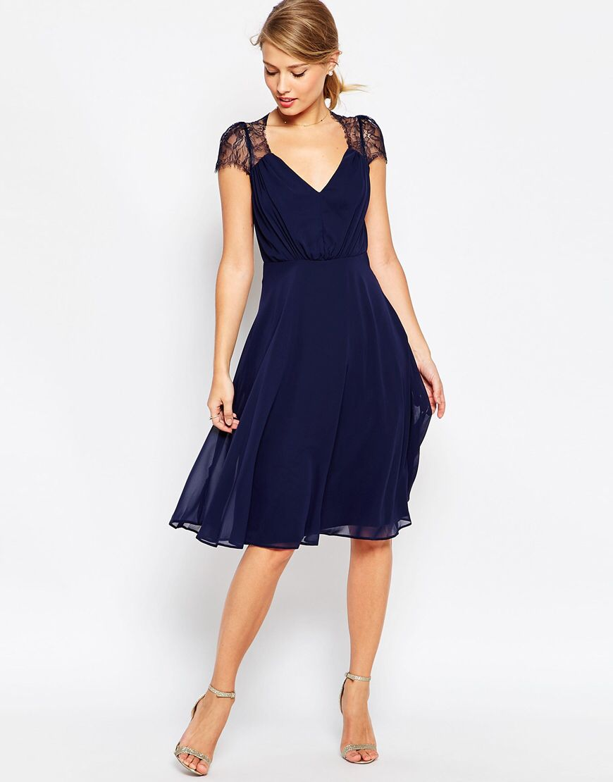 Long navy dress for wedding  Just when I thought I didnut need something new from ASOS I kinda