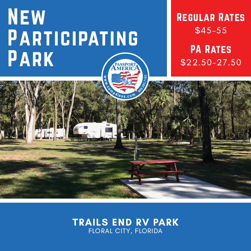 Trails End Rv Park Floral City Fl On The Withlacoochee River Offers Oversized Private Rv Sites Nestled Under A Cano Rv Parks Florida Campgrounds Park Trails