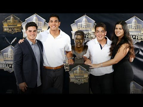Junior Seau gets inducted into Pro Football Hall of Fame on behalf of fa...