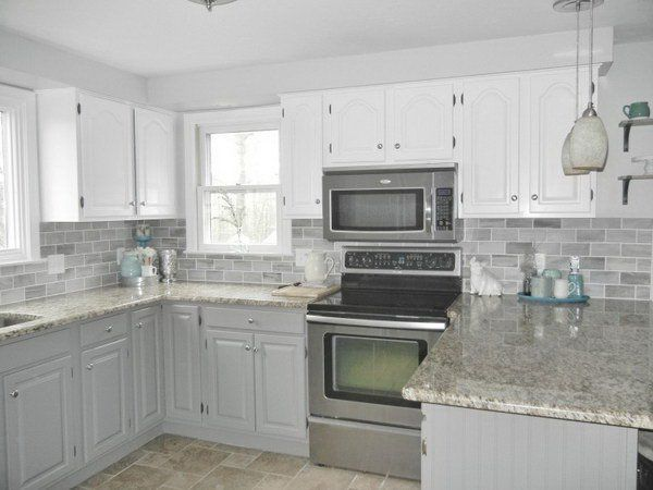 Great White And Light Gray Kitchen Cabinets.   Kitchen   Pinterest   Light Grey  Kitchens, Grey Kitchen Cabinets And Gray Kitchens