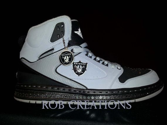 8fa9adfb6941 Jordan custom Oakland Raiders shoe crystallized. by ROBcreations ...