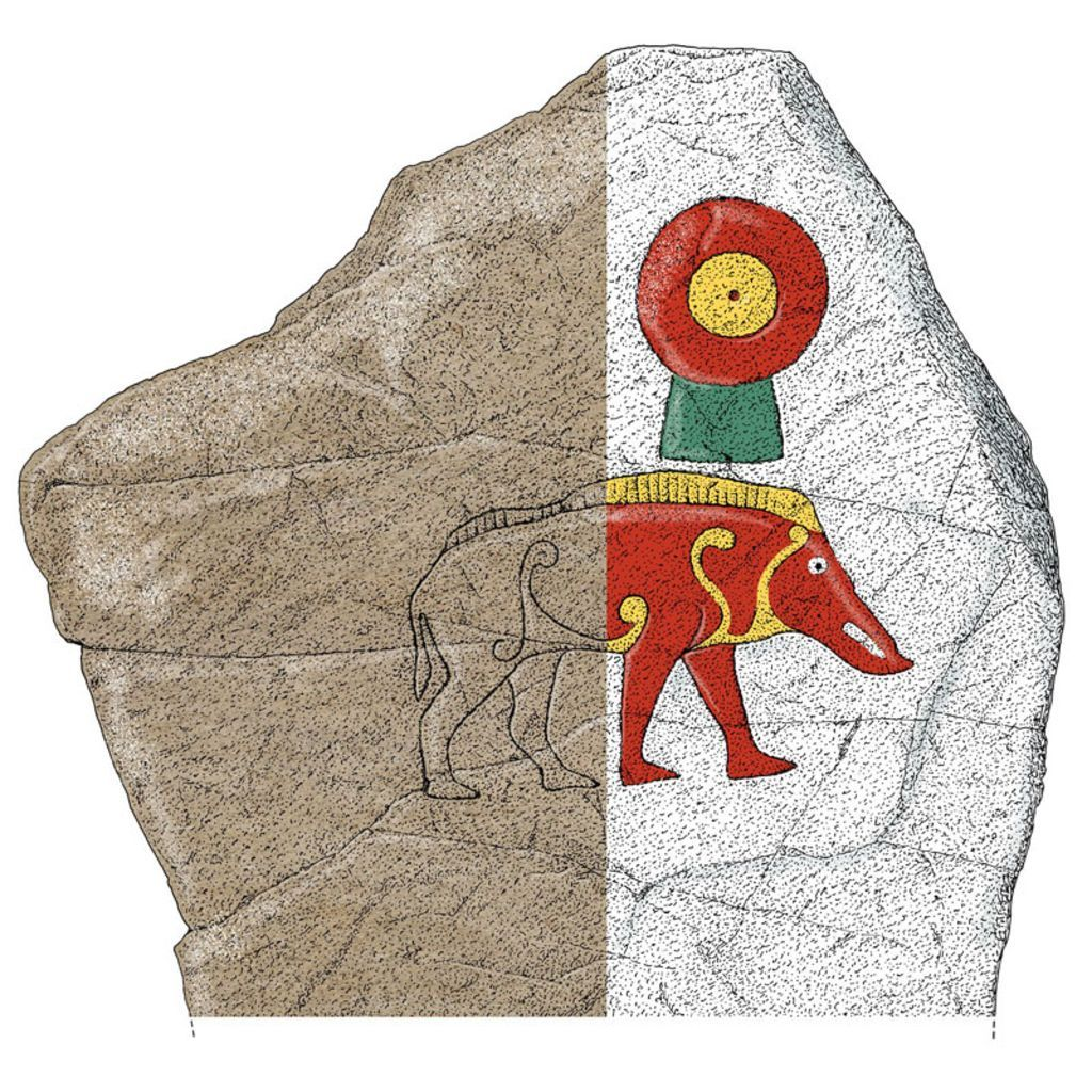 Scotland's carved Pictish stones reimagined in colour