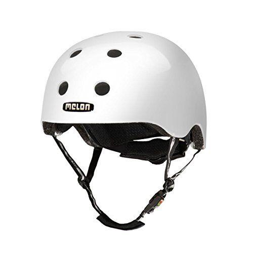 Melon Brightest Helmet White Glossy Finish Large 58 63cm 2275 25in