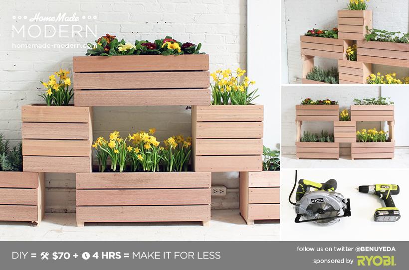 Homemade Modern Diy Stackable Planters Postcard 400 x 300