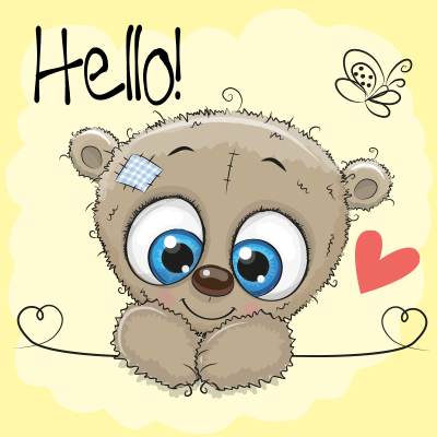 Cute Cartoon Teddy Bear With Smiling Star On The Stars Background Download A Free Preview Or High Quality Adobe Il Cute Cartoon Cartoon Clip Art Cute Drawings