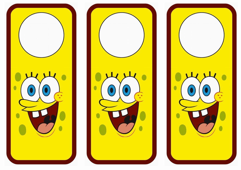 Spongebob themed FREE printable door hangers