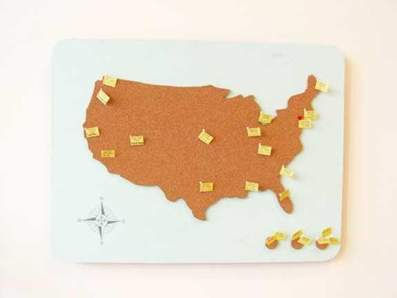 Idee Regalo Natale Viaggi.Mappa In Sughero Come Idea Regalo Fai Da Te Per Chi Ama Viaggiare