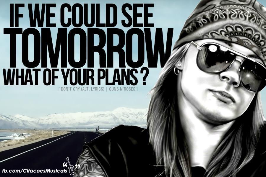 Trechos De Músicas: Don't Cry - Guns N'Roses