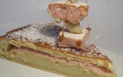 Galette des Rois aux biscuits roses de Reims #recettesympa Classique et chic à la fois...une recette sympa ! #recettesympa