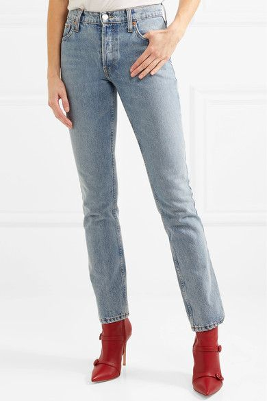 + Cindy Crawford The Crawford High-rise Straight-leg Jeans - Light denim Re/Done q7K01B