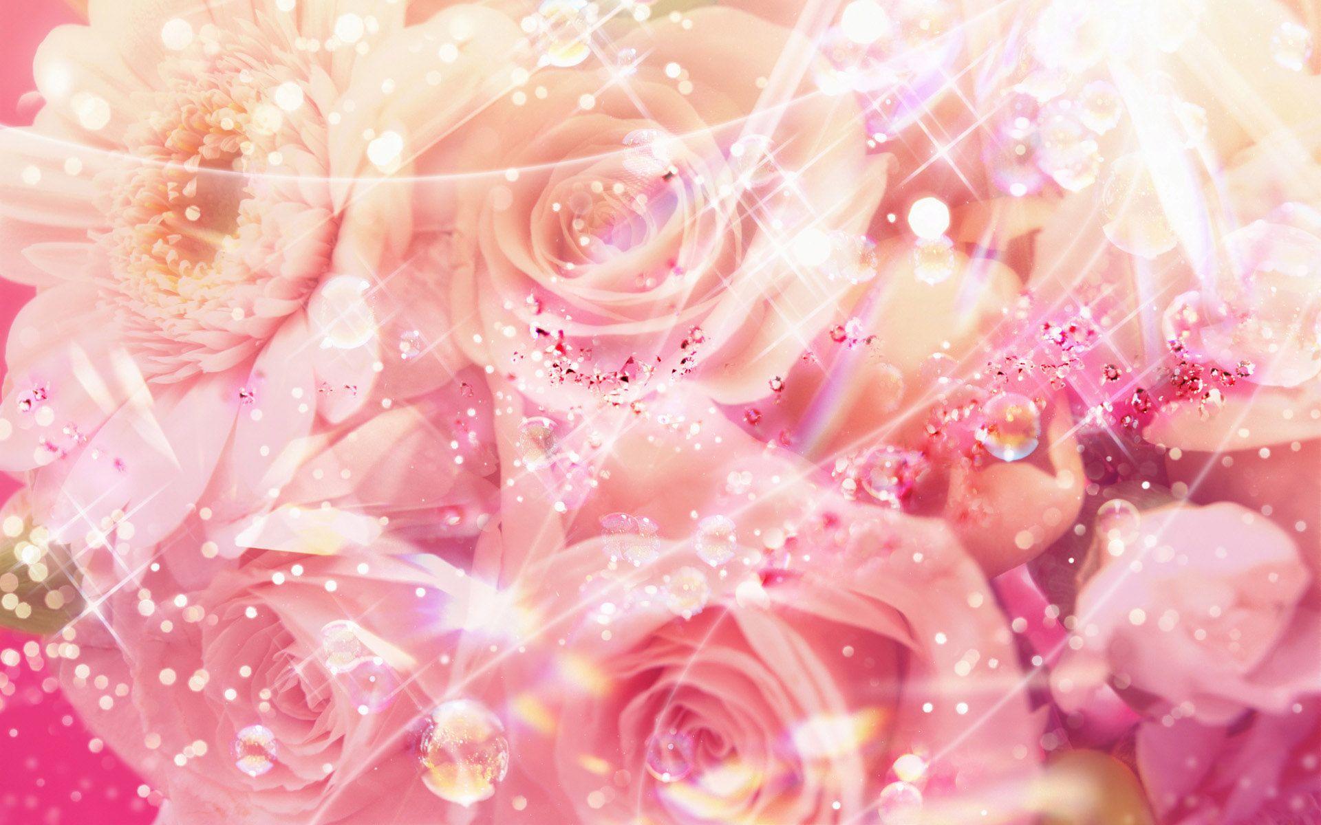 Pinkflowersbling Pink Flowers Background Rose Wallpaper Flower Backgrounds Flower wallpaper for desktop full size