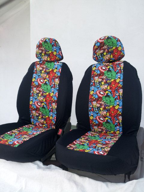 Marvel Super Hero Design Pair Of Front Seat Covers Car Van Truck If Only They Didnt Cost Soooo Much