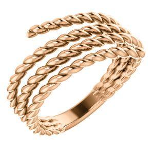 14kt Rose Rope Ring