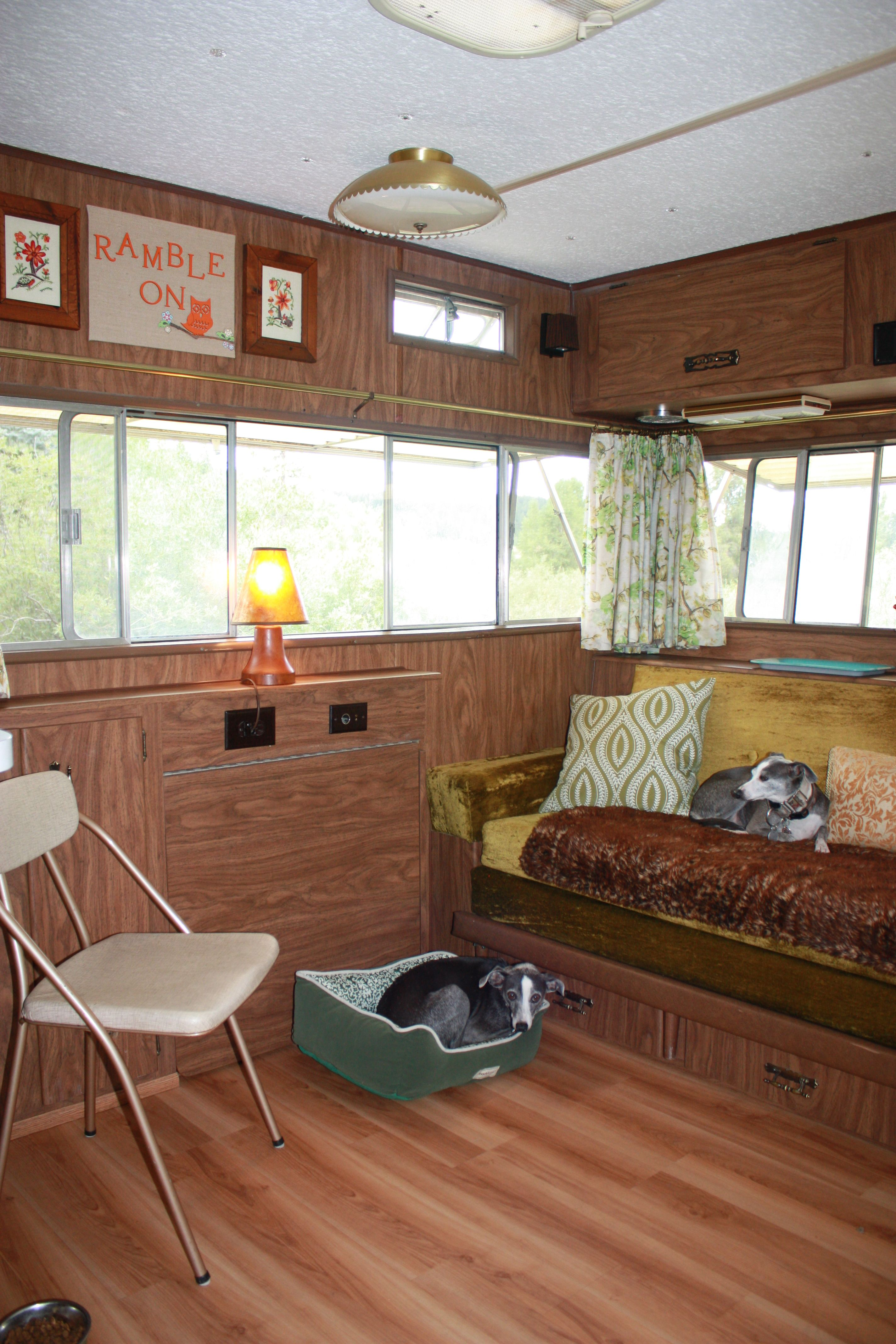 Interior View Of Petunia Our 1972 Holiday Rambler We