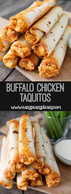 Buffalo Chicken Taquitos For The Win! - Easy Peasy Pleasy
