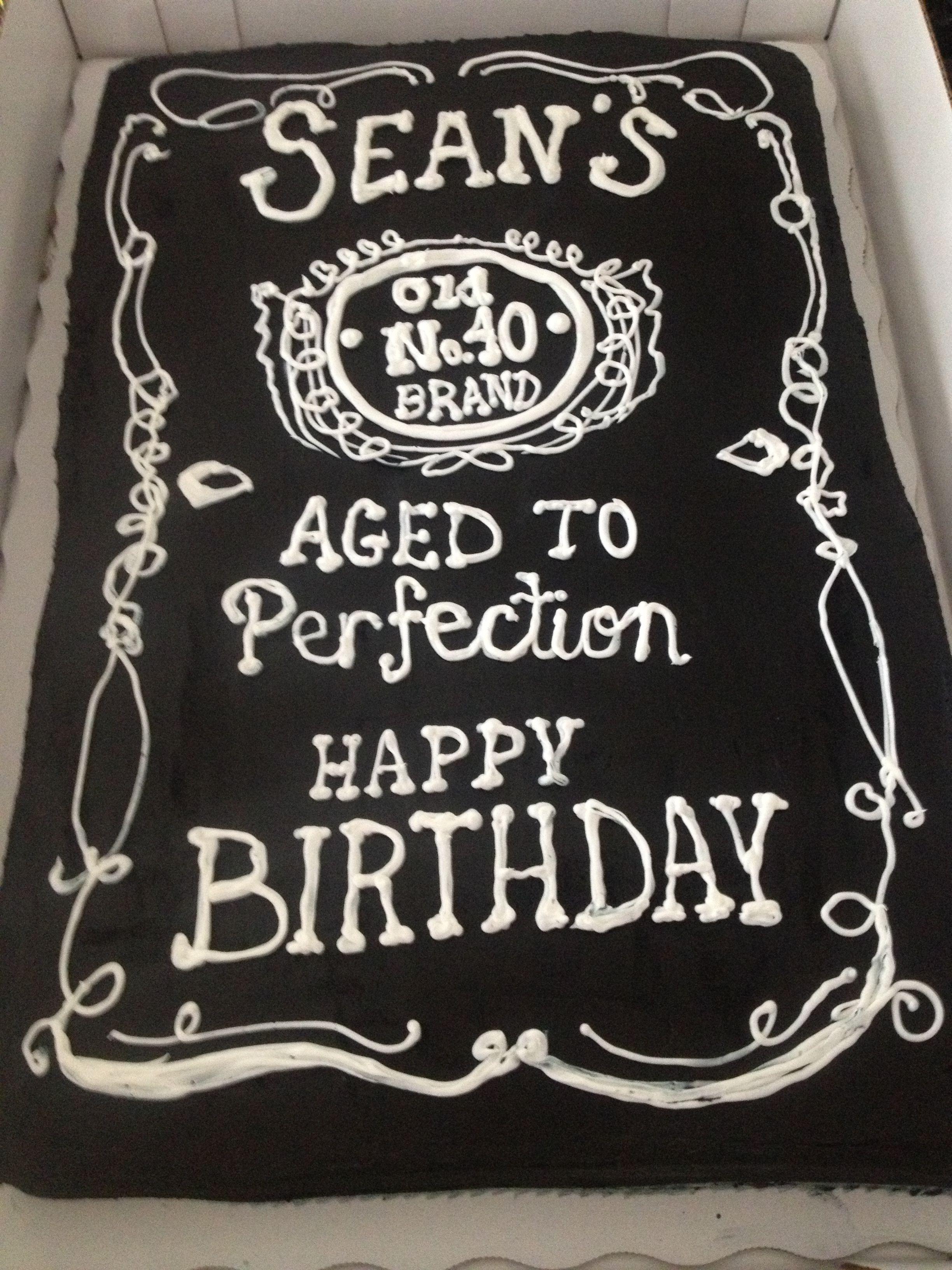 Jack Daniels birthday cake Cakes Pinterest Jack daniels