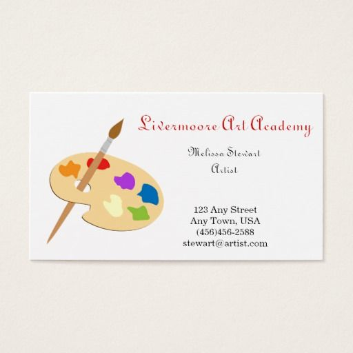 Painter Or Artist Paint Brush Business Cards Zazzle Com In 2021 Illustration Business Cards Painter Business Card Artist Business Cards