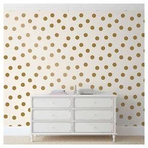 Devine Color Dots Peel Stick Wallpaper Gold White Peel And Stick Wallpaper Living Decor Home Decor
