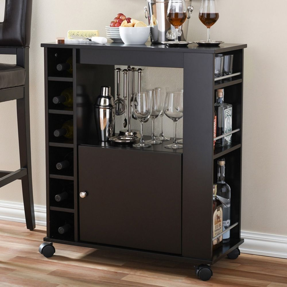 Wet Bar Alcohol Wine Cabinet For Home Furniture Equipment Units Mini On Wheels