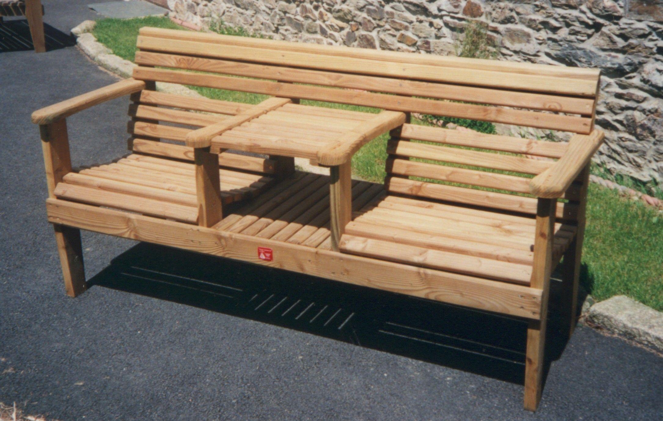 Pallet Furniture Plans | INTERGRATED BENCH 01