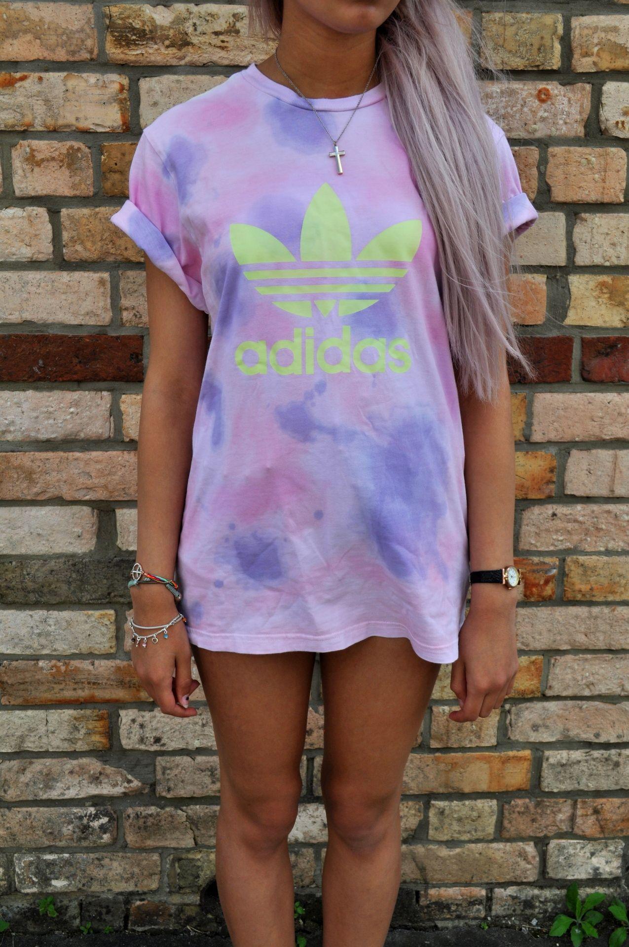 adidas original trefoil t shirt purple
