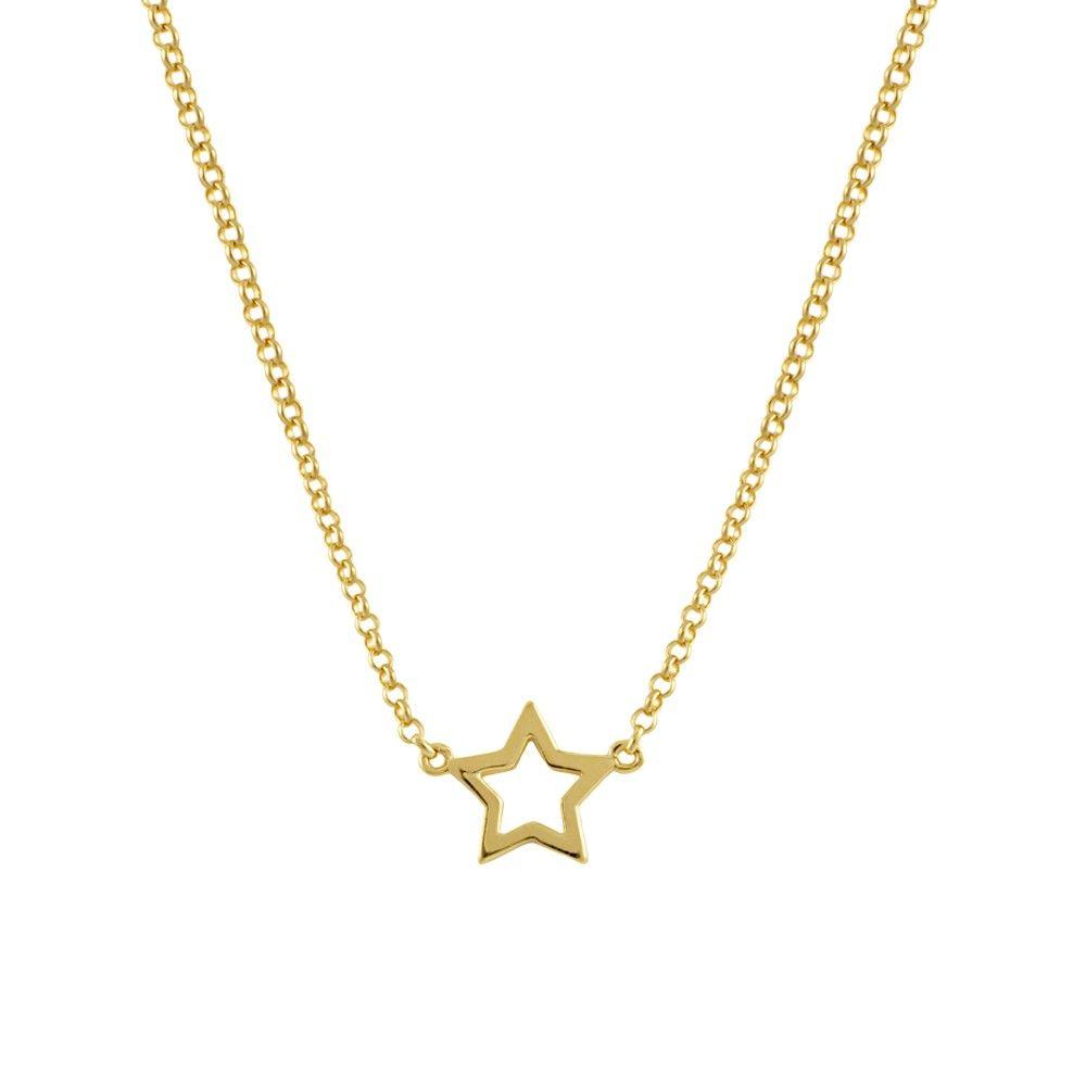 007e2e5ba01c Cadena con colgante estrella en plata/oro | Joyas | Dije de oro, Oro ...