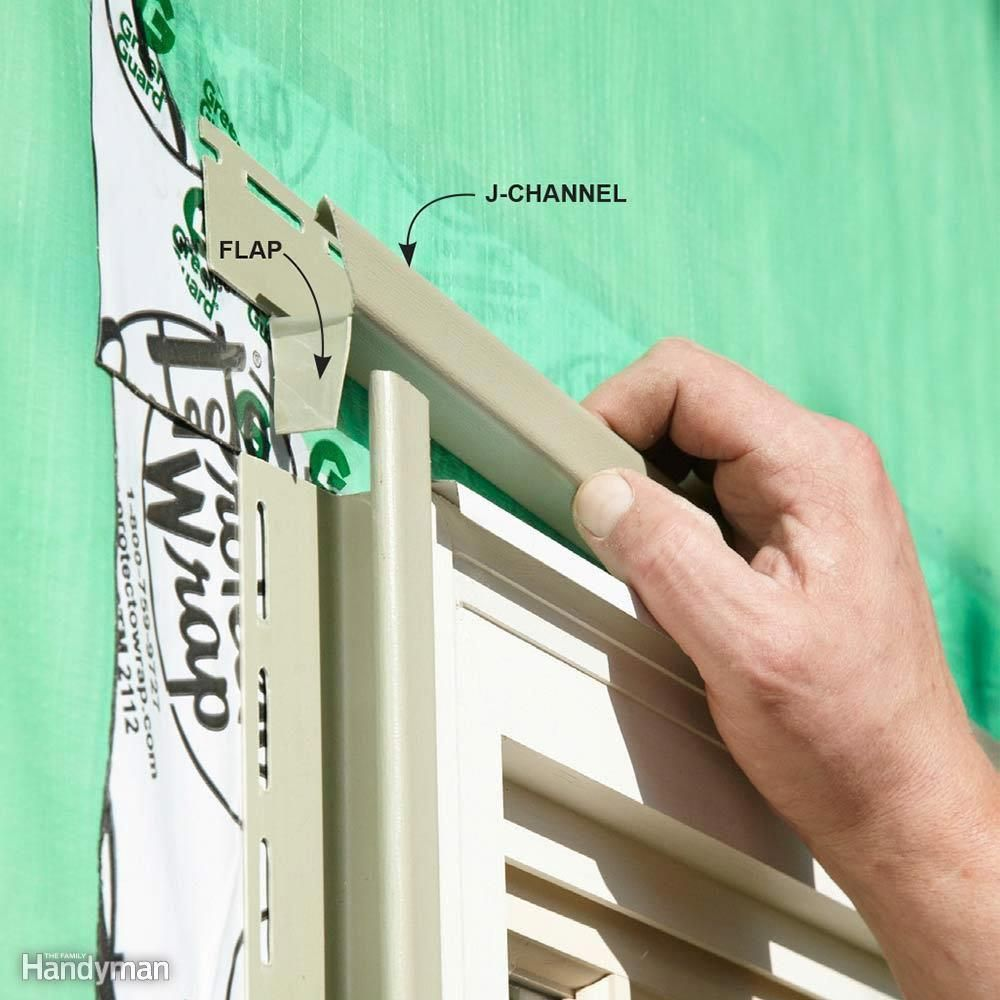 Overlap Your Top J Channels Homerenovationtips Vinyl Siding Installation Installing Siding Vinyl Siding