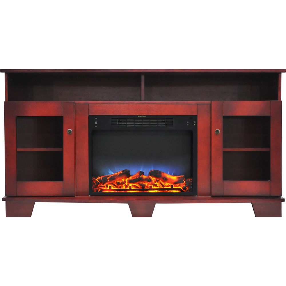 Cambridge Savona 59 In Electric Fireplace In Cherry With