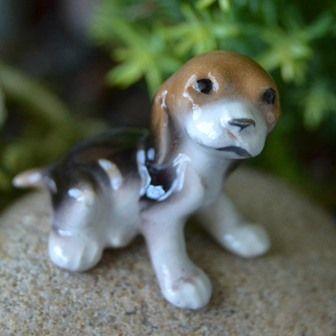 Fairy Garden Miniature Beagle Pup. SHOP Now $5.99